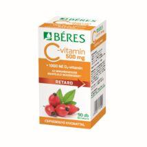 Béres C-vitamin 500 mg RETARD filmtabletta csipkebogyó kivonattal + 1000 NE D3-vitamin 90x