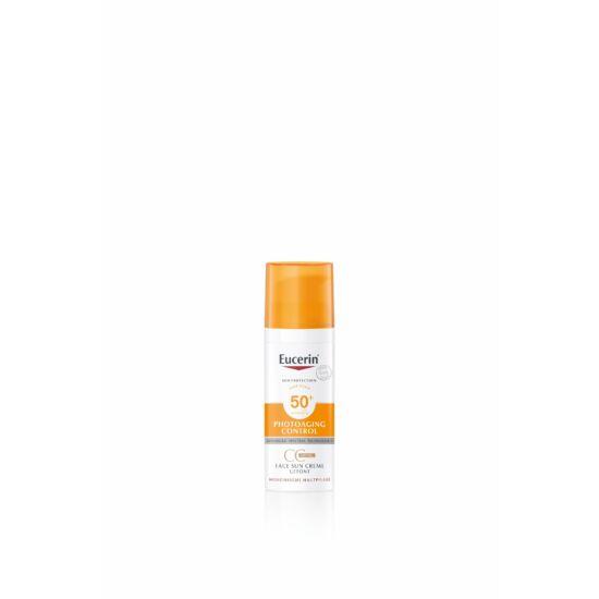 Eucerin Sun Photoaging Control Színezett napozókrém arcra FF50+ 50 ml