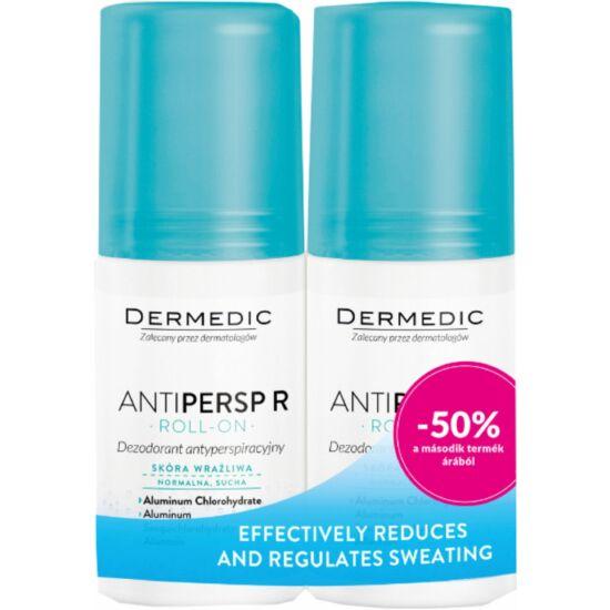 DerMedic ANITPERSP Izzadásgátló golyós dezodor normál, száraz, érzékeny bőrre 2x60ml