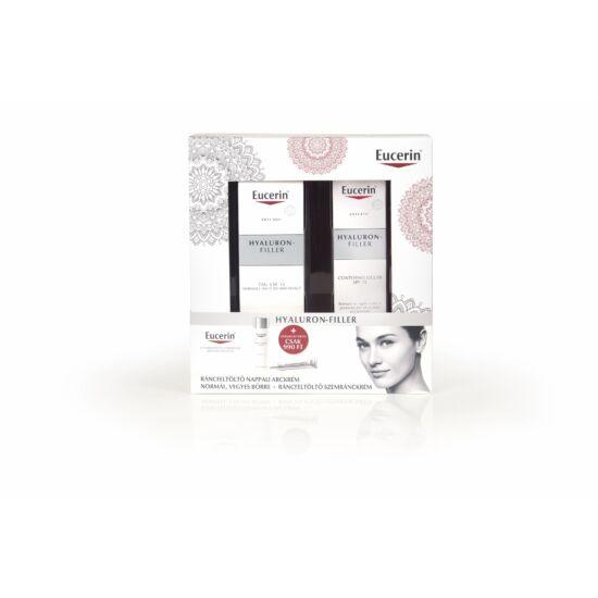 Eucerin ajándékcsomag hyaluron-filler ráncfeltöltő nappali arckrém normál/kombinált bőrre 50ml+ szemránckrém 15ml 990 Ft-ért